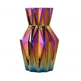 Pols Potten Vase Oily Folds Small 32 cm Buntglas bei shop.holland.com