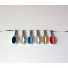 wOrk Spoon sieraden - kettingen van gekleurd porselein: cadeau voor moeder of voor valentijn
