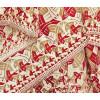 Dieser 100% Seidenschal in Rot, Taupe und Weiß ist mit Square Limit dekoriert, einem Tesselierungskunstwerk, das M.C. Escher 1964 herstellte