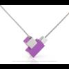 Clic Halskette C206P Lila und Silber von Clic by Suzanne Designer Schmuck