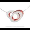 Clic C70R Halskette rot und silber von Clic by Suzanne bei shop.holland.com