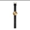 Neu Design Armbanduhr Tube D38 von Piet Hein Eek für LEFF Amsterdam Messing mit schwarzem Lederarmband