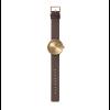 originelles Geburtstagsgeschenk: Tube D38 Messing Armbanduhr mit braunem Lederarmband von Dutch Designer Piet Hein Eek