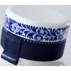 Kappe aus der blauen Kragenflasche Nr. 3 ist mit Delft Blau Lack verziert