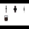 Details Tube D38 Armbanduhr aus schwarzem Stahl von LEFF Amsterdam Design Piet Hein Eek