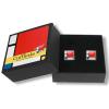 Geschenkidee: Manschettenknöpfen Mondrian Stil