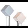 Drei quadratische Formen in unterschiedlichen Erscheinungsformen bilden zusammen die Starlight Stehleuchte.