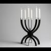 CCCLX Kerzenleuchter in schwarzem Stahl von Buro Bruno unter shop.holland.com
