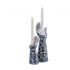 Funky Kerzenhalter HandsUp in Delfter Blau kaufen Sie unter shop.holland.com