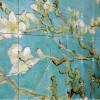 Mandelblüte Wandgestaltung Aspekt