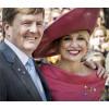 Königin Maxima von den Niederlanden trägt der Ballonbrosche am Königstag