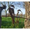Gartendeko Metalbird Schwalbe Metall Vogel silhouette