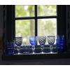 Pols Potten Tumbler oder Wasserglas hat ein eigenes Muster, in di Farben Blau und Violet, besondere Geschenkidee