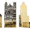 Pols Potten Teelichthalter Kirchen in goudfarbig Metall - originelles Geschenk