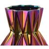 Die einzigartigen Formen und nahezu mystischen Gold-, Kupfer- und Lilatöne machen diese 17 cm breite und 32 cm hohe Vase zu einem absolut dekorativen Stück, geeignet für jeden Einrichtungsstil. Ein schönes Geschenk für Sie selbst oder jemand anderen.
