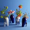 Eine besondere Vase; Die My Superhero Vase im modernen Delfter Blau Keramik