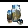 Pols Potten Graphic Luster Vase 30 und 40 cm und eine Kerzenhalter in Buntglas