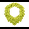 Die Superb Kette Lime und grau von Iris Nijenhuis in Uni und Multi Farben - Laser geschnitten Kunstleder