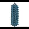 The wide armband aqua blauw scuba suede bij shop.holland.com