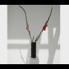 Vase Show in schwarz mit Marmorsockel